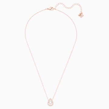 Swarovski Sparkling Dance Pear Necklace, White, Rose-gold tone plated - Swarovski, 5451993