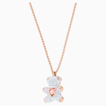 Teddy 链坠, 彩色设计, 镀玫瑰金色调 - Swarovski, 5452026