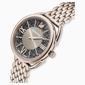 Zegarek Crystalline Glam, bransoleta z metalu, szary, powłoka PVD w odcieniu szampańskiego złota - Swarovski, 5452462