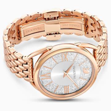 Crystalline Glam 腕表, 金属手链, 白色, 玫瑰金色调 PVD - Swarovski, 5452465