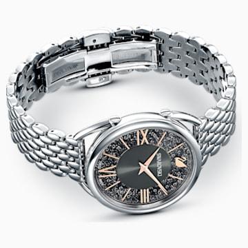 Crystalline Glam-horloge, Metalen armband, Grijs, Roestvrij staal - Swarovski, 5452468