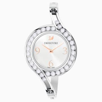 Lovely Crystals Bangle Часы, Металлический браслет, Белый Кристалл, Нержавеющая сталь - Swarovski, 5452492