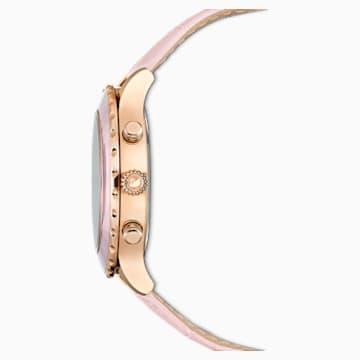 Octea Lux Chrono Uhr, Lederarmband, rosa, Rosé vergoldetes PVD-Finish - Swarovski, 5452501