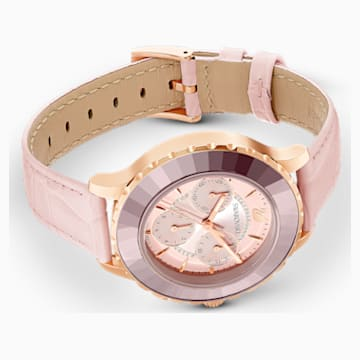 Octea Lux Chrono粉红色真皮腕表- Swarovski, 5452501