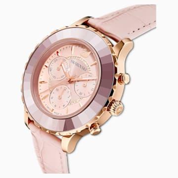 Orologio Octea Lux Chrono, Cinturino in pelle, rosa, PVD oro rosa - Swarovski, 5452501