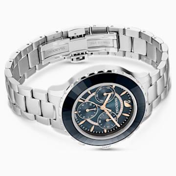 Octea Lux Chrono Uhr, Metallarmband, schwarz, Edelstahl - Swarovski, 5452504