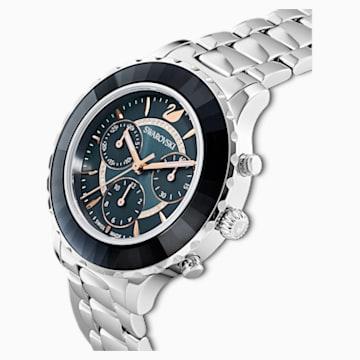 Reloj Octea Lux Chrono, brazalete de metal, gris oscuro, acero inoxidable - Swarovski, 5452504