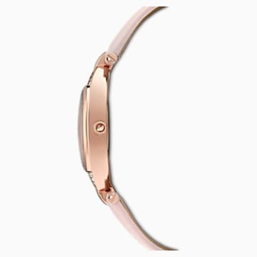 Stella Watch, Leather Strap, Pink, Rose-gold tone PVD - Swarovski, 5452507