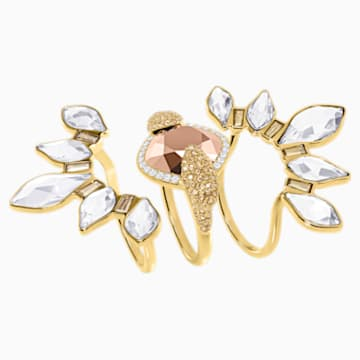 Odysseia Motif Ring, Multi-colored, Gold-tone plated - Swarovski, 5452526