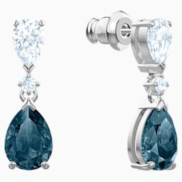 Orecchini Vintage, azzurro, Placcatura rodio - Swarovski, 5452579