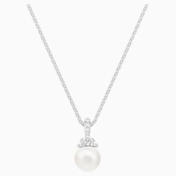 Pendentif Originally, blanc, Métal rhodié - Swarovski, 5452584