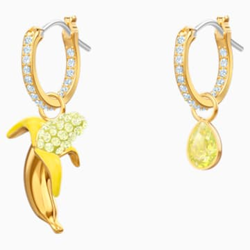 Boucles d'oreilles No Regrets Banana, multicolore, métal doré - Swarovski, 5453571