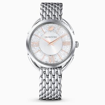 Orologio Crystalline Glam, Bracciale di metallo, bianco, acciaio inossidabile - Swarovski, 5455108