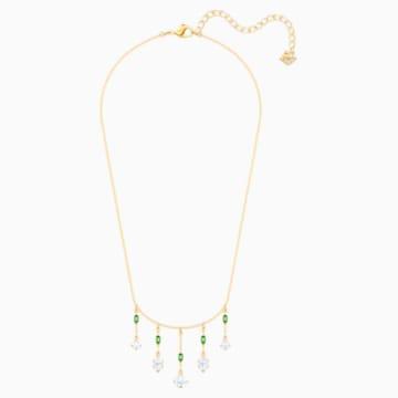 Oz Necklace, White, Gold-tone plated - Swarovski, 5455519