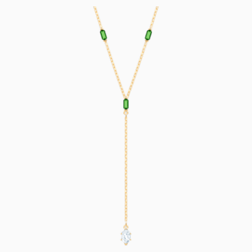 Oz Y Necklace, White, Gold-tone plated - Swarovski, 5455520