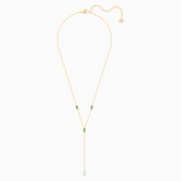 Oz Y-Halskette, weiss, Vergoldet - Swarovski, 5455520