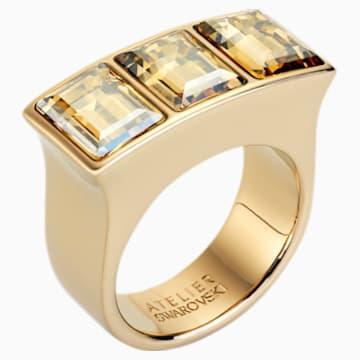 Fluid Ring, braun, Vergoldet - Swarovski, 5455676