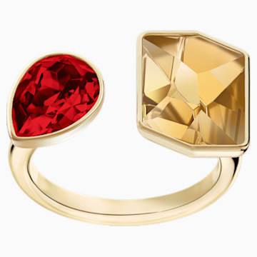 Prisma 戒指, 彩色设计, 镀金色调 - Swarovski, 5456607