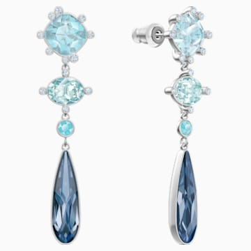 Olive Pierced Earrings, Multi-colored, Rhodium plated - Swarovski, 5456892