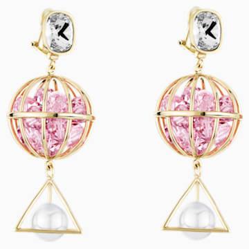 Boucles d'oreilles Nostalgia, rose, métal doré rose - Swarovski, 5457231