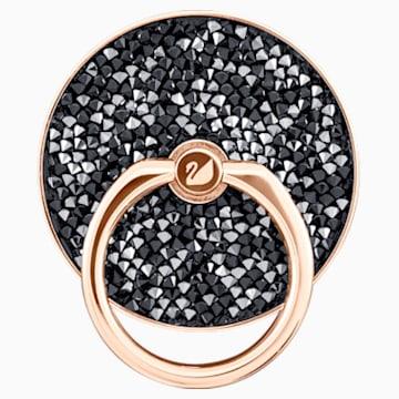 Držák s kroužkem Glam Rock. černý, kombinované pokovení - Swarovski, 5457469