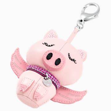 Accessoire de sac Bu Bu, rose, acier inoxydable - Swarovski, 5457470