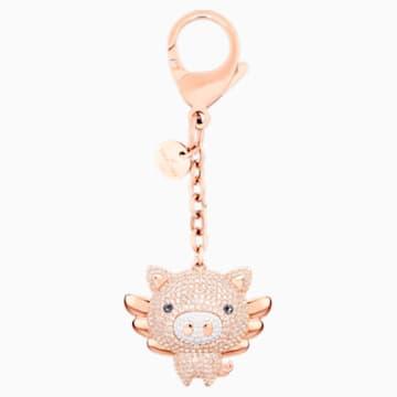 Accessorio per borse Little Pig, rosa, placcatura mista - Swarovski, 5457471