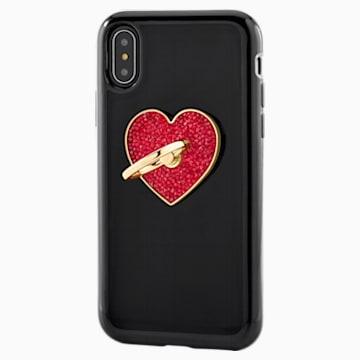 Glam Rock Кольцо-держатель для телефона, Красный Кристалл, Смешанное покрытие - Swarovski, 5457473