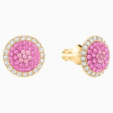 No Regrets Ice Cream Pierced Earrings, Multi-coloured, Gold-tone plated - Swarovski, 5457497