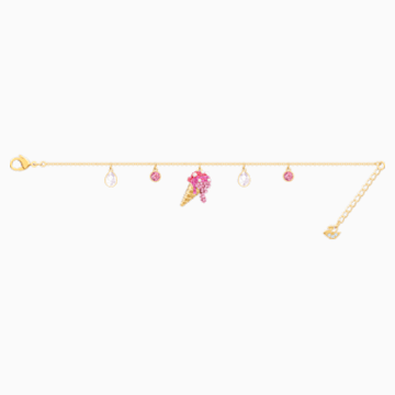 No Regrets Ice Cream Bracelet, Multi-coloured, Gold-tone plated - Swarovski, 5457498