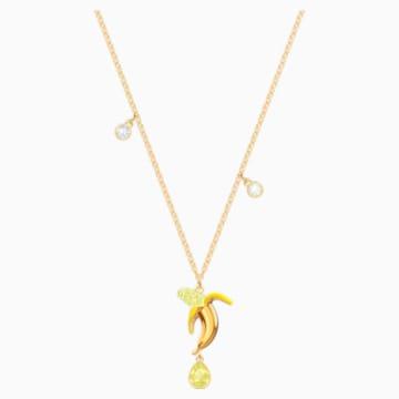 Pendentif No Regrets Banana, multicolore, métal doré - Swarovski, 5457504