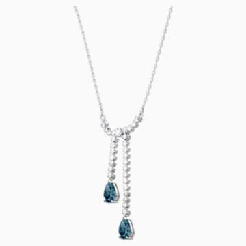 Vintage Y Necklace, White, Rhodium plated - Swarovski, 5457628