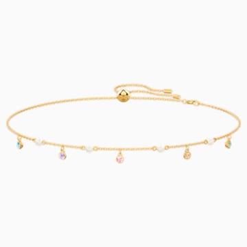 No Regrets Necklace, Multi-colored, Gold-tone plated - Swarovski, 5457664