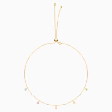 No Regrets Necklace, Multi-coloured, Gold-tone plated - Swarovski, 5457664