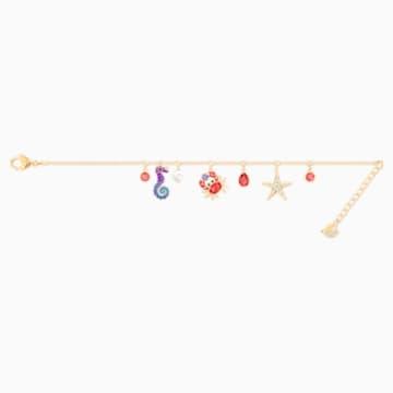 Ocean Bracelet, Multi-colored, Gold-tone plated - Swarovski, 5457760
