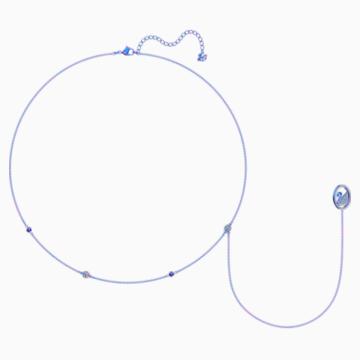 Pop Swan Halskette, violett, Flieder PVD-Finish - Swarovski, 5457764
