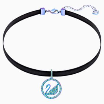 Pop Swan 束颈项链, 紫色, 丁香紫色 PVD 涂层 - Swarovski, 5457766
