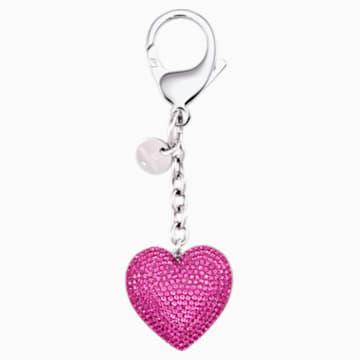 Accessoire de sac Lovely, fuchsia, acier inoxydable - Swarovski, 5458417
