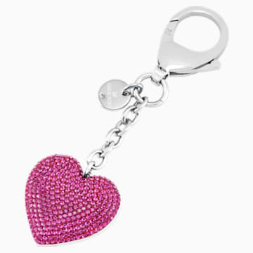 Lovely Handtaschen-Charm, fuchsia, Edelstahl - Swarovski, 5458417