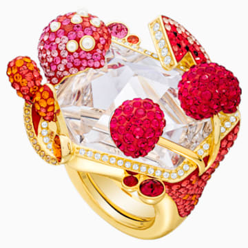 Optimum Cocktail Ring, Multi-colored, Gold-tone plated - Swarovski, 5458832