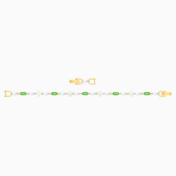 Oz Bracelet, White, Gold-tone plated - Swarovski, 5459392