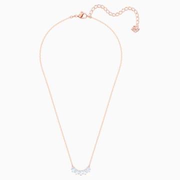 Sunshine 项链, 白色, 镀玫瑰金色调 - Swarovski, 5459590
