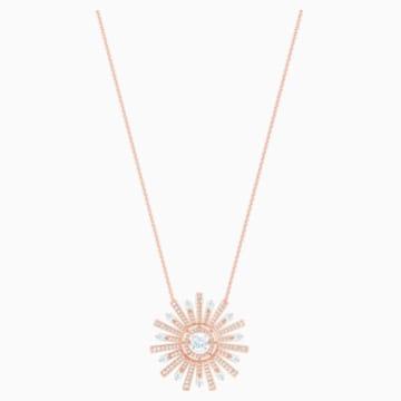 Sunshine Halskette, weiss, Rosé vergoldet - Swarovski, 5459593