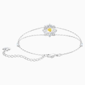 Pulsera Sunshine, blanco, Baño de Rodio - Swarovski, 5459594