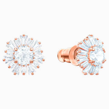 Sunshine Серьги, Белый Кристалл, Покрытие оттенка розового золота - Swarovski, 5459597