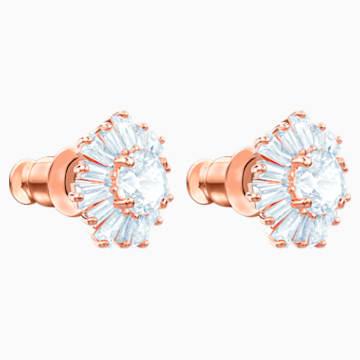 Orecchini Sunshine, bianco, Placcato oro rosa - Swarovski, 5459597