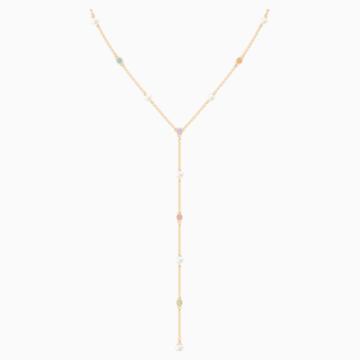 Collier en Y No Regrets, multicolore, métal doré - Swarovski, 5459612