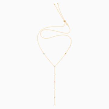 No Regrets Y-Halskette, mehrfarbig, vergoldet - Swarovski, 5459612