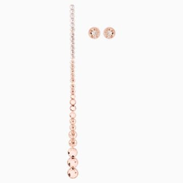 Ocean View Pierced Earrings, Multi-colored, Rose-gold tone plated - Swarovski, 5459968