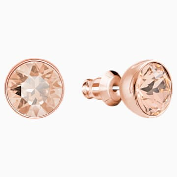 Ocean View Pierced Earrings, Multi-coloured, Rose-gold tone plated - Swarovski, 5459968